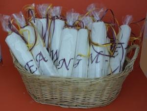 Gastendoekjes geborduurd met letter van uw gasten!