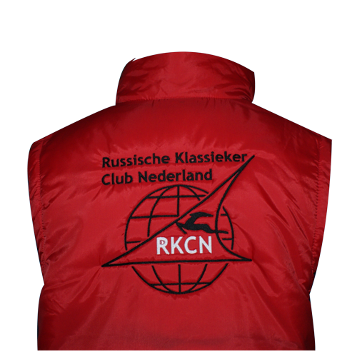 Bodywarmer met club logo borduren