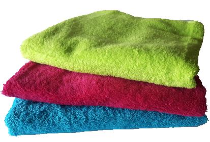 Handdoek in felle kleuren