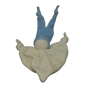 Keptinpopje smooz blauw 18 x 25 cm.