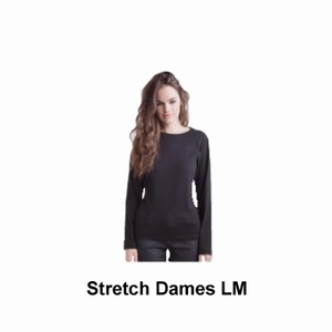 Skinnifit T-shirt Dames Stretch Lange Mouw