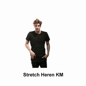 Skinnifit T-shirt Heren Stretch Korte Mouw