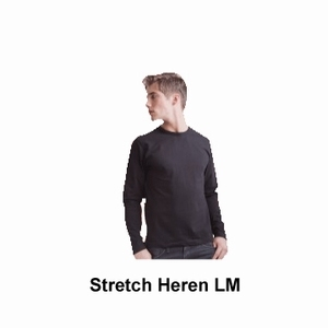 Skinnifit T-shirt Heren Stretch Lange Mouw
