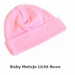 Baby mutsje roze