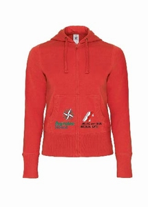 B&C hooded full zip sweater women
