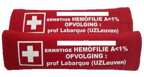 Autogordelhoezen 2 stuks medische info