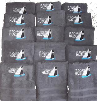 Handdoek borduren met logo