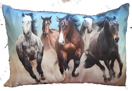 Woonkussen rennende paarden