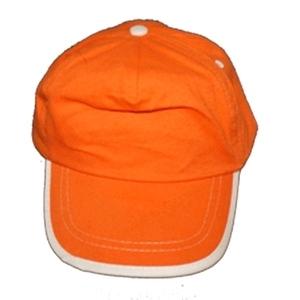 Kinder cap oranje / bedrukking max. 100x60 mm