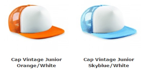 caps vintage junior / bedrukking max. 100x60 mm