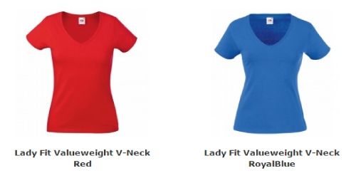 Dames T-Shirt met V-Neck