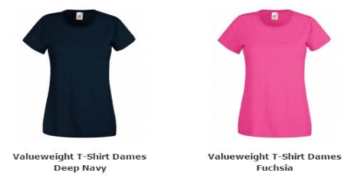 Dames T-Shirt Valueweight