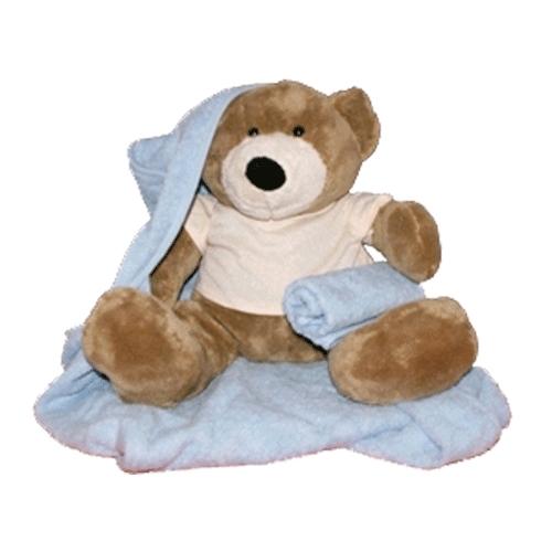 Geboorte beer met badcape   en slab wit