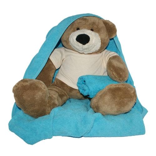Geboorte beer met badcape en slab