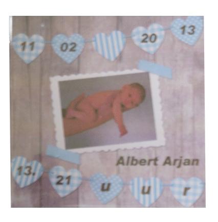 Geboorte tegel van geboorte kaartje