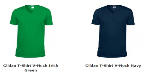 Gildan T-Shirt met  V-Neck