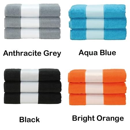 Handdoek bedrukt met bedrijfs logo