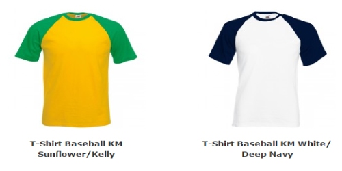 Heren T-Shirt Baseball Korte Mouw