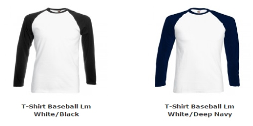 Heren T-Shirt Baseball Lange Mouw