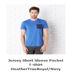 heren t-shirt pocket