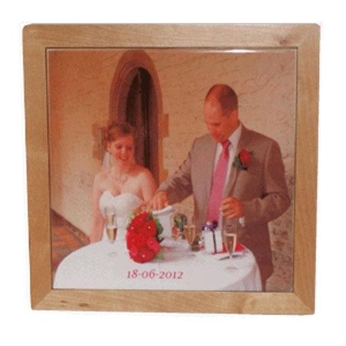 Huwelijks foto bedrukt op tegel