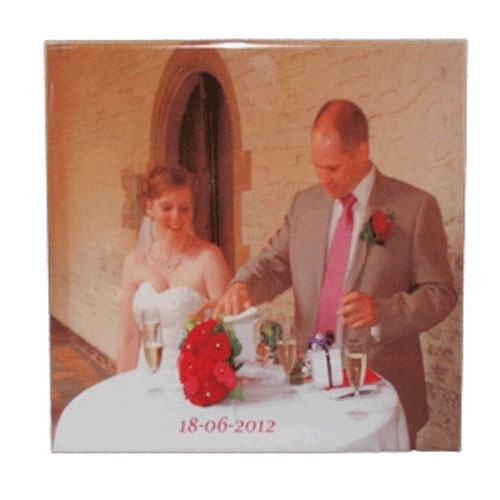 Huwelijks tegel 20 X 20 cm met lijst