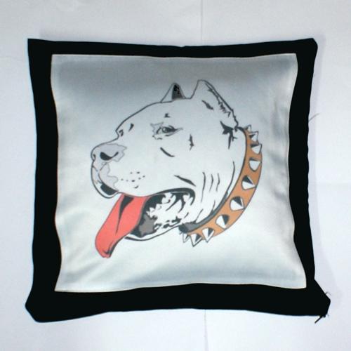 Kussenhoes hond bedrukt met  afbeelding en tekst