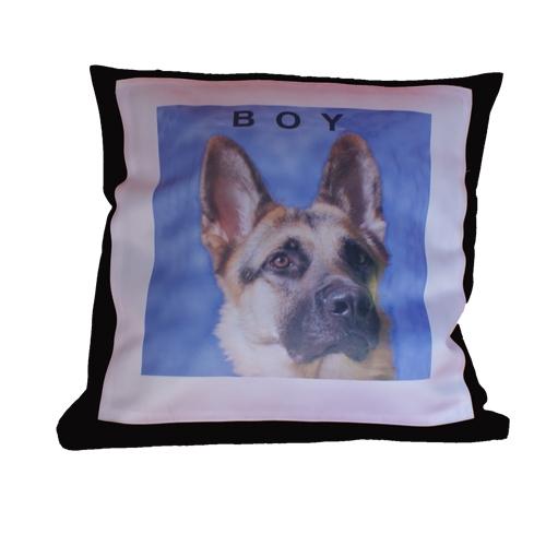Kussenhoes hond bedrukt met foto en naam