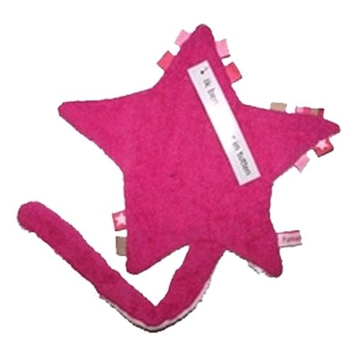 Labeldoekje  fuchsia / roze