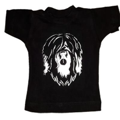 Mini shirtje tekst 1-zijdig bedrukt met flex 1 kleur