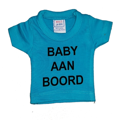 Naamslinger mini shirtjes basis 3 shirtjes met 1 letter FLEX