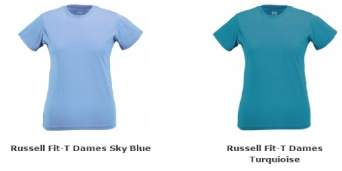 Russell Fit T-shirt Dames