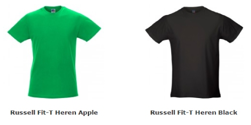Russell Fit T-shirt Heren