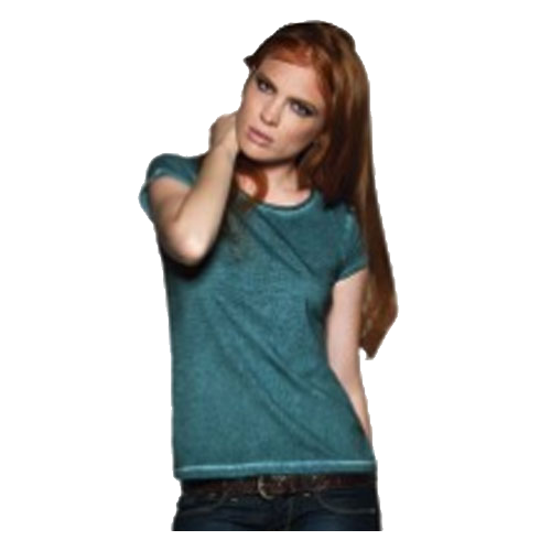 B&C Denim Dames T-Shirt Plug in