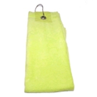 Golf handdoekje velours  lime